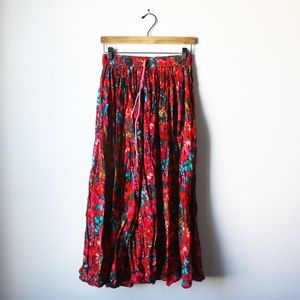 [Vintage] floral boho gypsy skirt